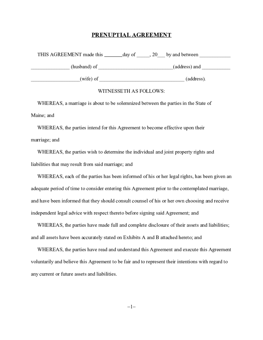 Free Printable Prenuptial Agreement Form Edit Fill Sign Online