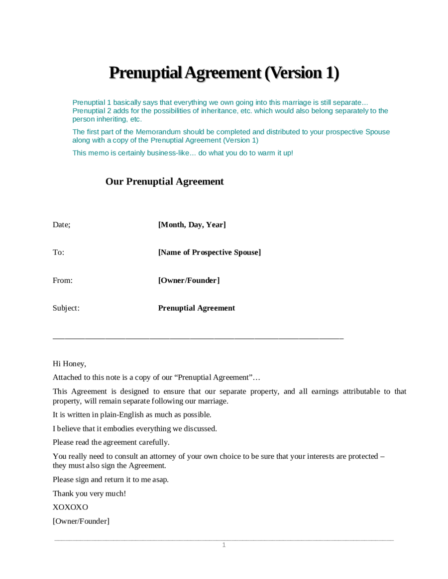 Sample Prenuptial Agreement Sample Prenuptial Agreement