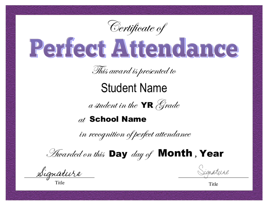 2018 certificate of attendance fillable printable pdf for Student of the year award certificate templates