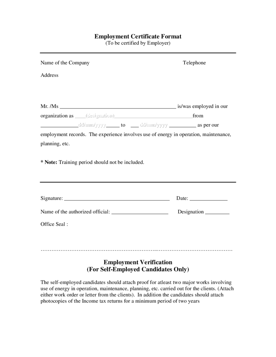 2018 proof of employment letter fillable printable pdf forms employment certificate format altavistaventures