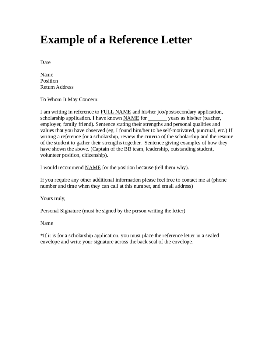 sample of reference letter 2019 reference letter templates fillable printable pdf 1955