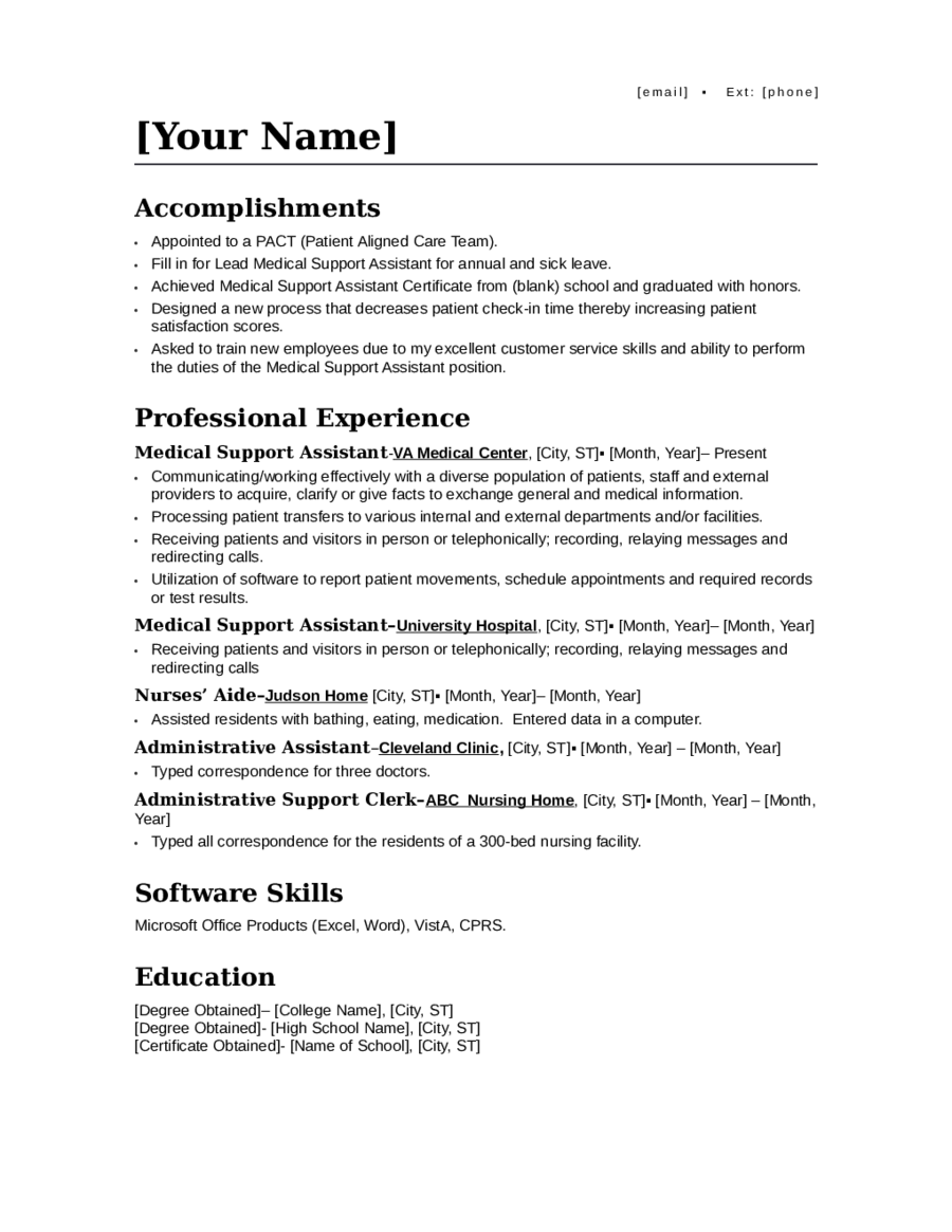 2018 resume template fillable printable pdf forms handypdf