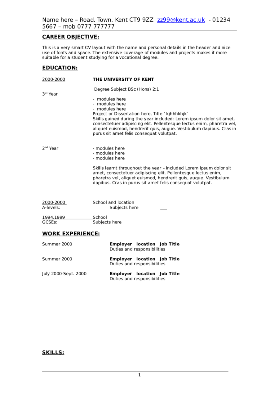 Resume Objective Examples For Students  Objective Examples Resume
