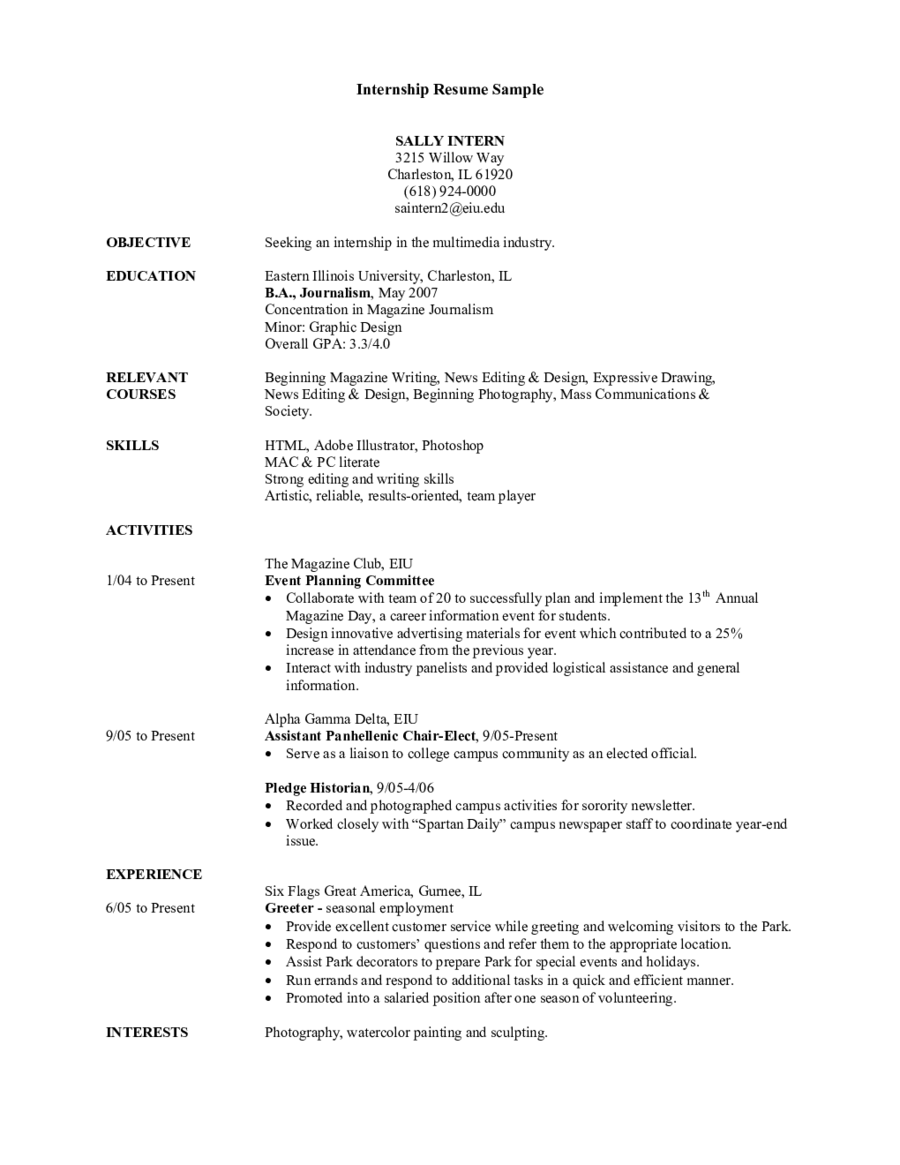 Resume Objective Statement Example  Job Resume Objective Statement