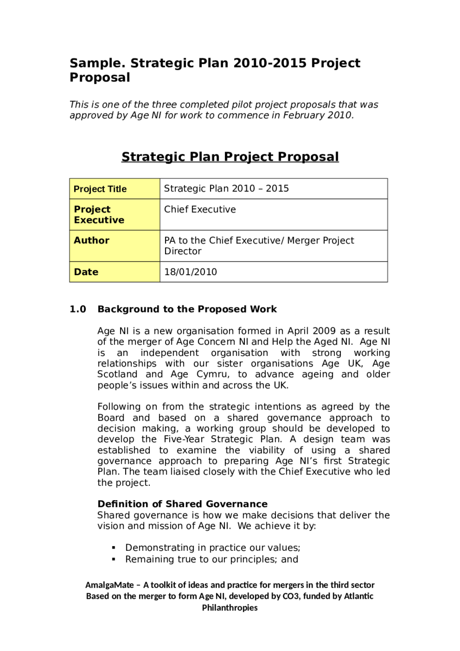 example of project proposal Project management examples giving you case studies of project management each example explains how to manage projects more easily issue a request for proposal.