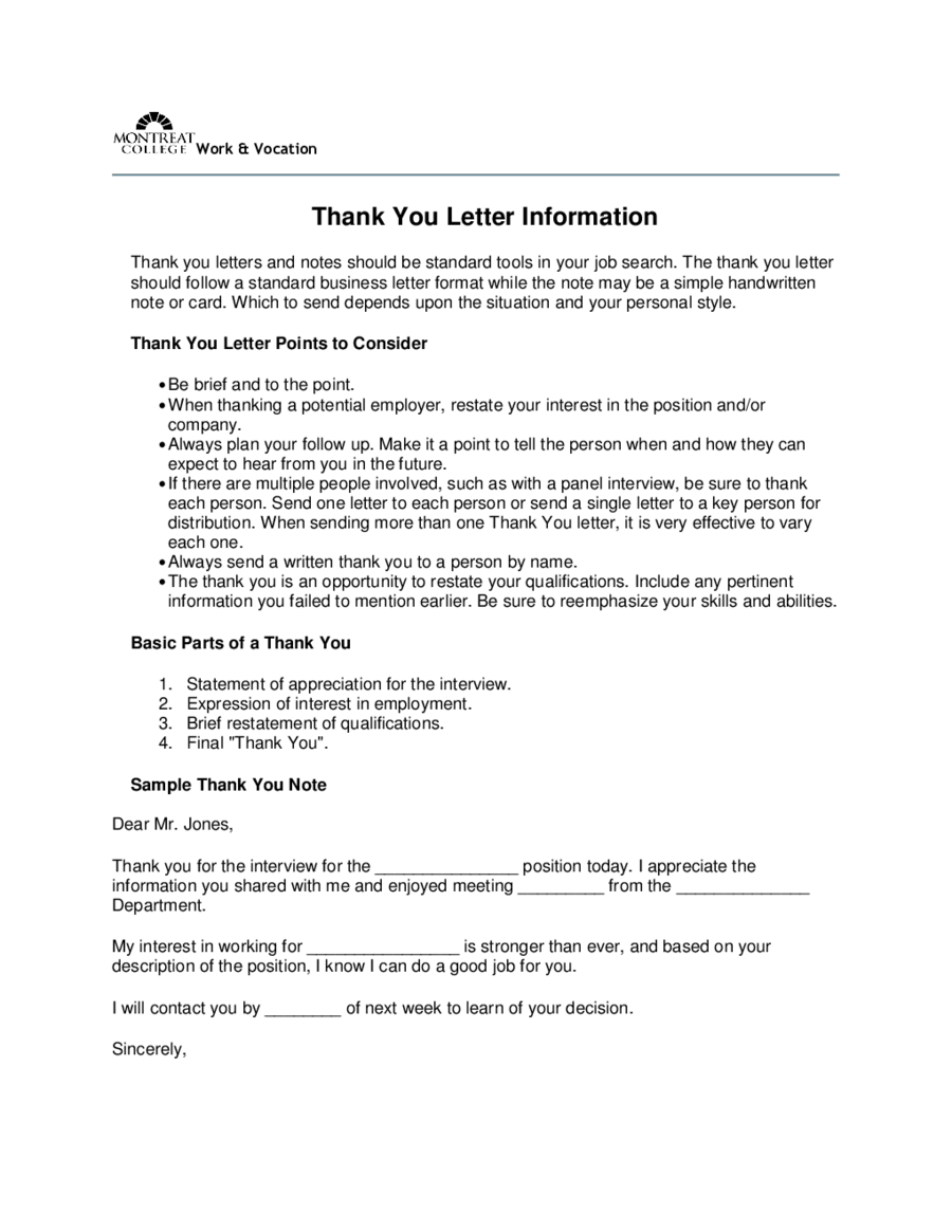 Thank You Letter Template Fillable Printable PDF Forms - Scholarship thank you letter template