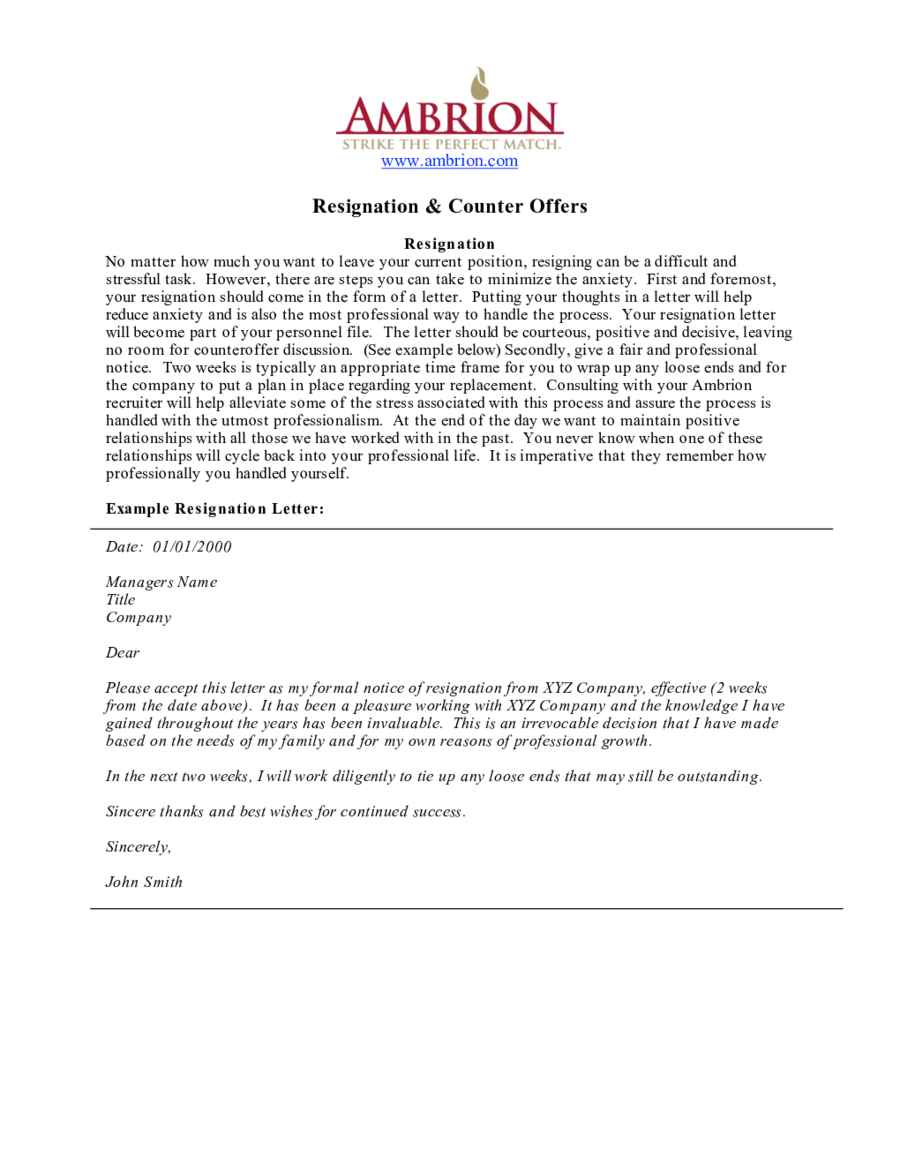 Two Weeks Notice  Fillable Printable Pdf  Forms  Handypdf