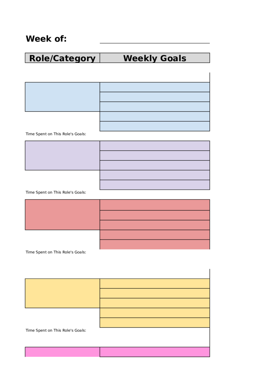 2018 weekly planner template fillable printable pdf for Free planner templates